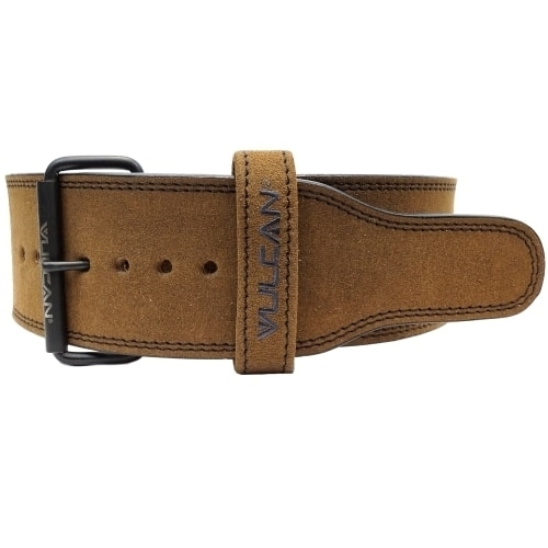 Vulcan Brown Leather Powerlifting Belt